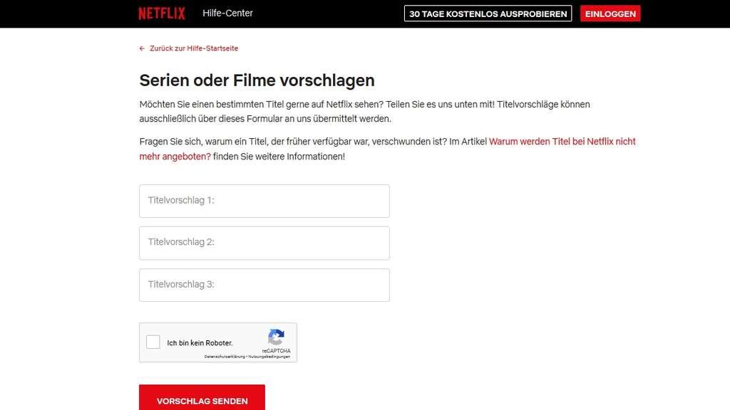 Netflix Filme Vorschlagen