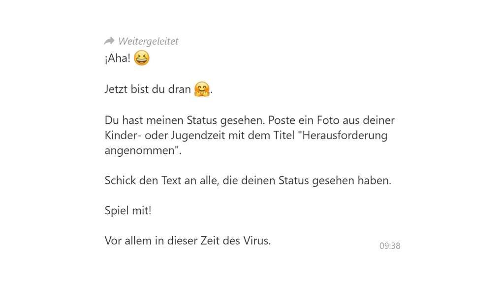 Whatsapp Status Kettenbrief