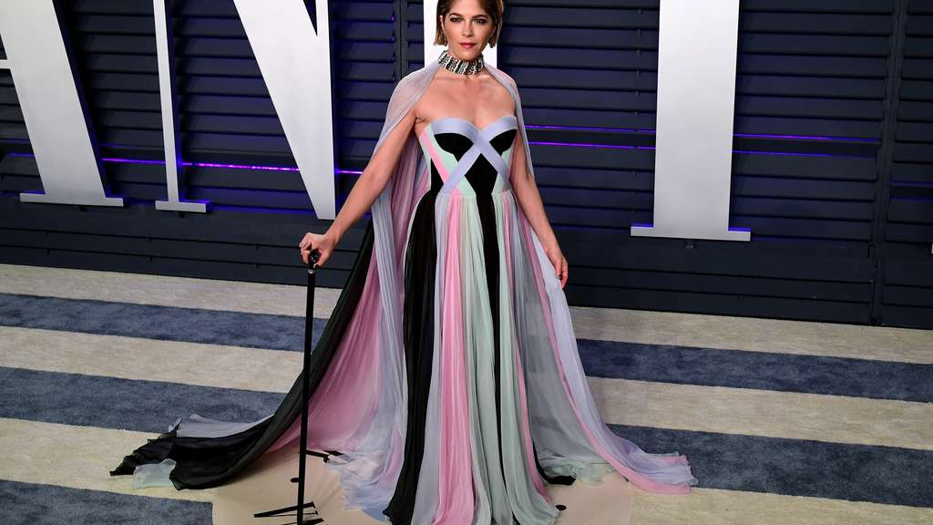 Schauspielerin Selma Blair auf der Vanity Fair Oscar Party in Los Angeles im Jahr 2019: 2018 wurde bei der Künstlerin Multiple Sklerose diagnostiziert.