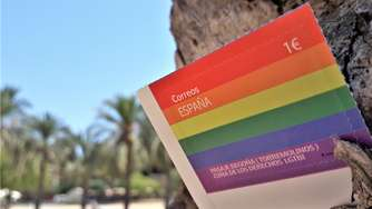 "Alicante: Gay-Touristen in Spanien ""bunte Fische""- LGBT-Briefmarke 2020"
